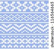 Seamless knitted pattern. EPS 8 vector illustration. - stock vector