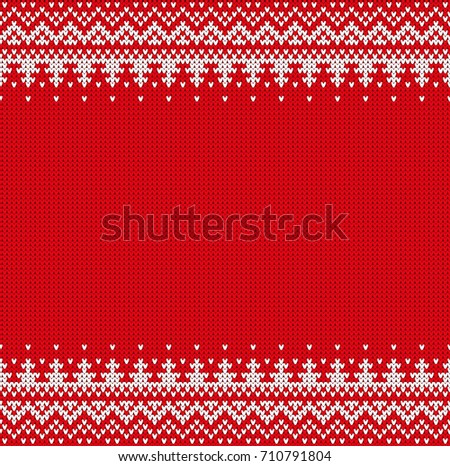 Seamless Knitting Pattern Winter Holiday New Stock Vector Hd