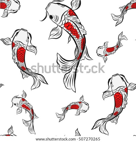 Fish drawing stock images royalty free images vectors for Koi fish vector