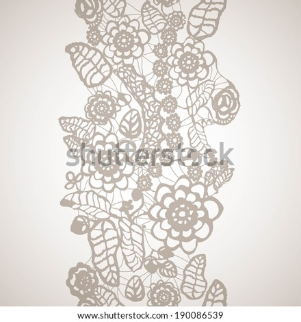 seamless lace ornament - stock vector