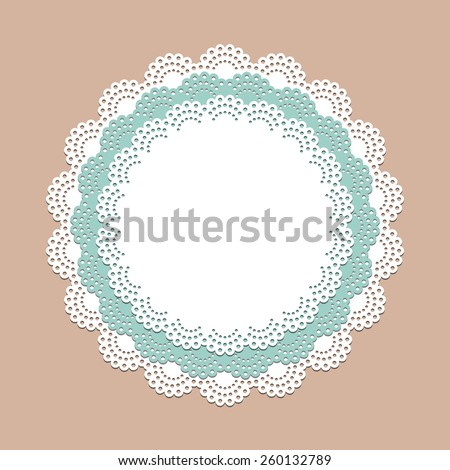 Crocheting Vector : ... vector frame for invitation, menu, coffee or cake shop - stock vector