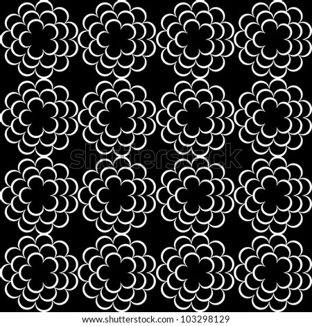 Seamless lace pattern - stock vector
