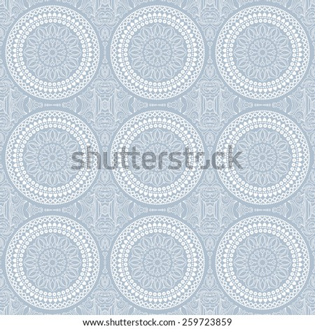 Seamless lace pattern with a thin round elements