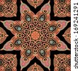 Seamless laced arabic pattern - stock