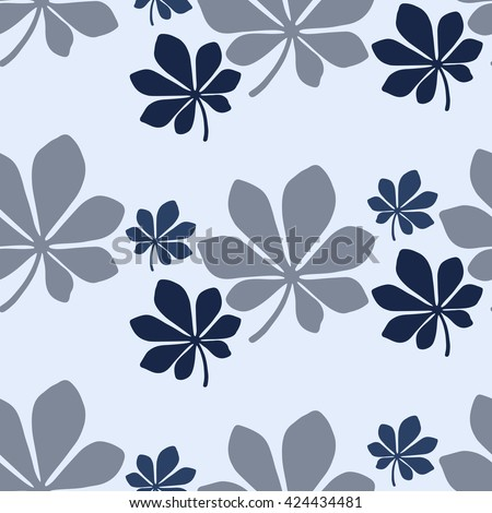 Seamless leaf pattern. Vector illustration.