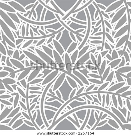 Seamless Leafy Pattern - Vector