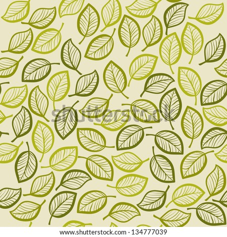 seamless leaves - stock vector