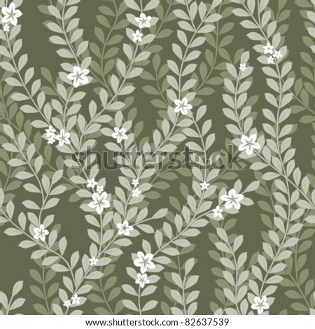 Seamless Leaves Pattern - stock vector
