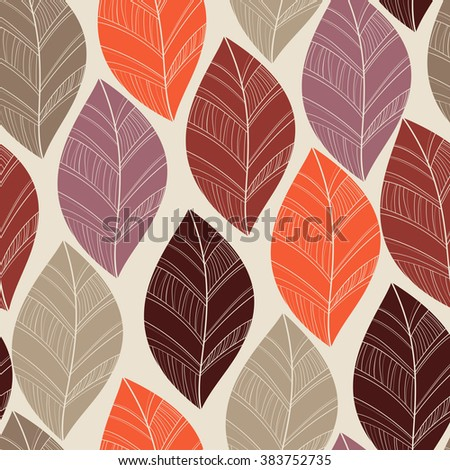 seamless leaves pattern autumn