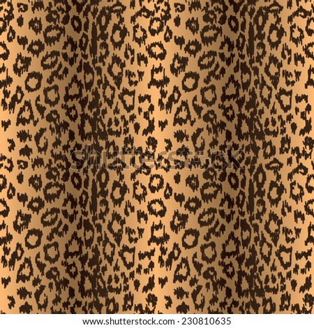 seamless leopard background, vector illustration - stock vector