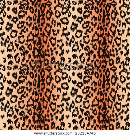 seamless leopard background, vector illustration - stock vector