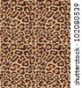 Seamless leopard fur pattern - stock vector