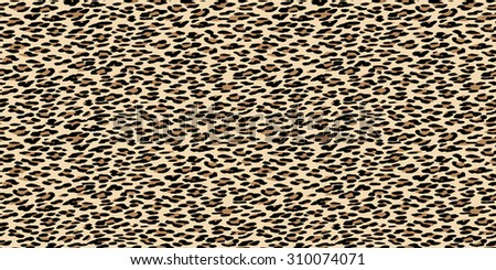 Seamless leopard pattern. Natural fur leopard print. Animal skin texture background.  Animal spot illustration. Wildlife safari concept. - stock vector