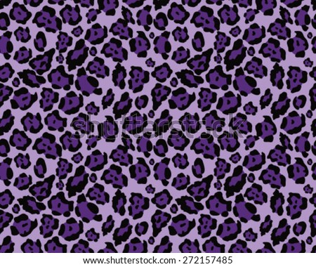 Seamless leopard skin texture, vector illustration