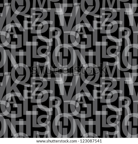 Seamless letters pattern. - stock vector