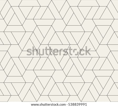 Seamless linear pattern with crossing thin poly lines, polygons. Abstract geometric texture. Stylish background in gray color.