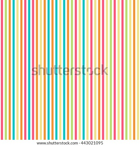 Seamless lines pattern with stripes of fresh colors on a white background