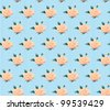 Seamless love romantic pattern with flowers and lines, vector illustration - stock vector