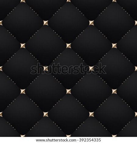 Seamless luxury dark black pattern and background. Vector Illustration - stock vector