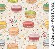 Seamless macaron pattern - stock vector