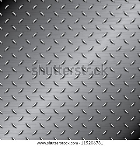 Seamless metal texture - stock vector