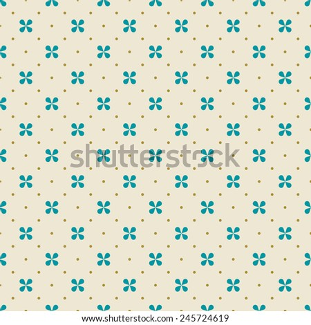 seamless minimalistic floral pattern. each color in separate layer. - stock vector
