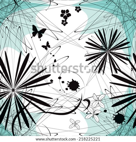 Seamless minimalistic geometric vector pattern - stock vector
