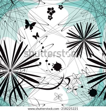 Seamless minimalistic geometric vector pattern - stock vector