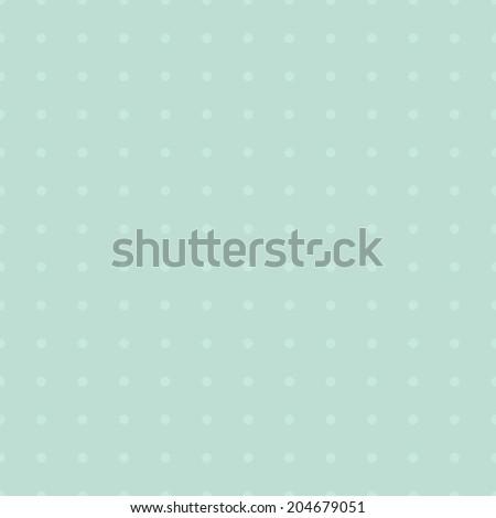 Seamless mint simple polka dot vintage pattern - stock vector