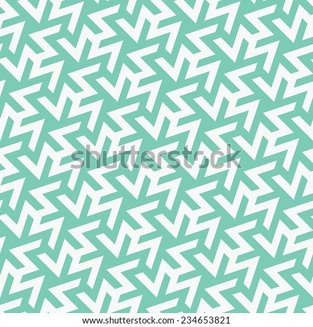 Seamless Modern Arabian Mosaic Inspired Geometric Background Pattern  - stock vector