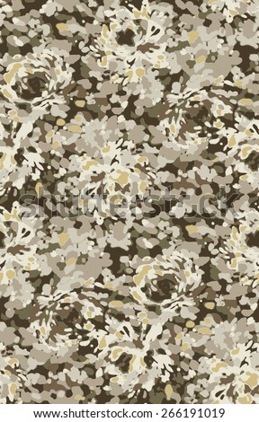 Seamless modern non combat camouflage pattern - stock vector