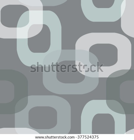 Seamless modern retro pattern donut shape in grey tones