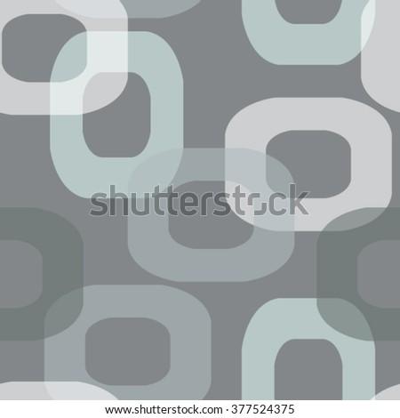 Seamless modern retro pattern donut shape in grey tones - stock vector