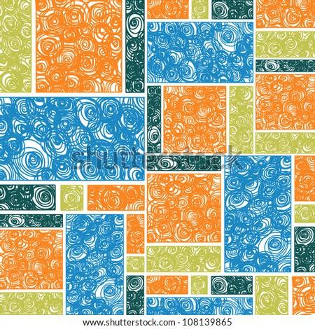 Seamless modern spiral ; illustration vector - stock vector