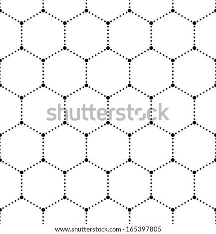 Seamless Molecular Pattern - stock vector