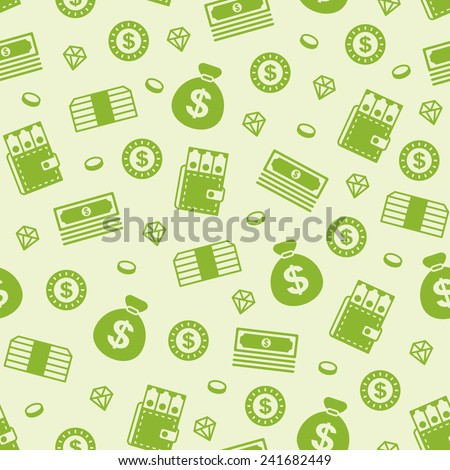 seamless money pattern - stock vector
