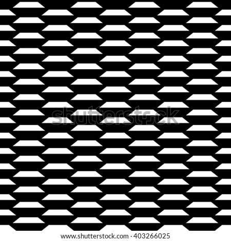 Seamless monochromatic pattern. Grill. Mesh. Geometric ornament. Abstract texture for wallpapers. Repeating geometric elements. Black and white pattern vector. Repeatable background. - stock vector