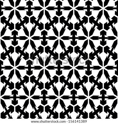 Seamless monochrome elegant pattern. Vector illustration.  - stock vector
