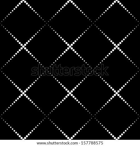 Seamless Monochrome Geometric Background - stock vector