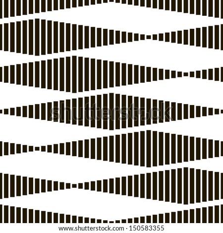 Seamless Monochrome Geometric Pattern - stock vector