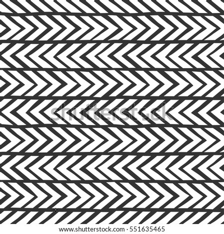 Seamless monochrome hand-drawn pattern. Abstract vector background with grunge effect. EPS10.