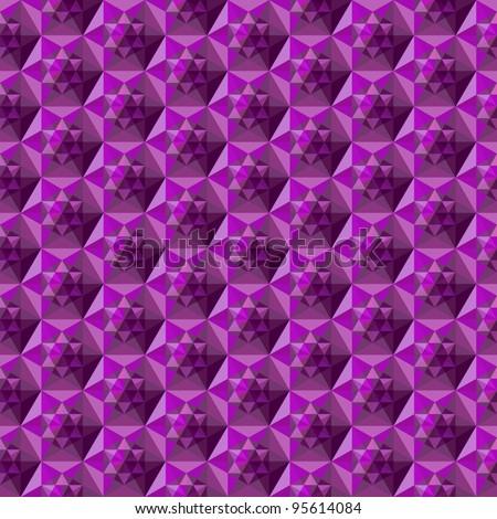 Seamless moresque hexagon pattern - stock vector