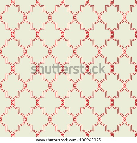 Seamless Morrocan Tile Pattern - stock vector
