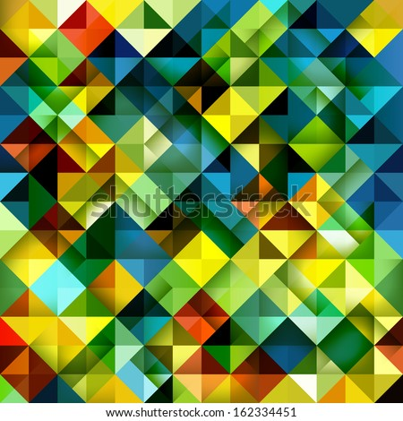 Seamless mosaic background. Vector illustration. Abstract mosaic backdrop. Colorful triangle pattern. - stock vector
