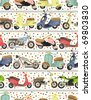 seamless motorcycle pattern - stock vector