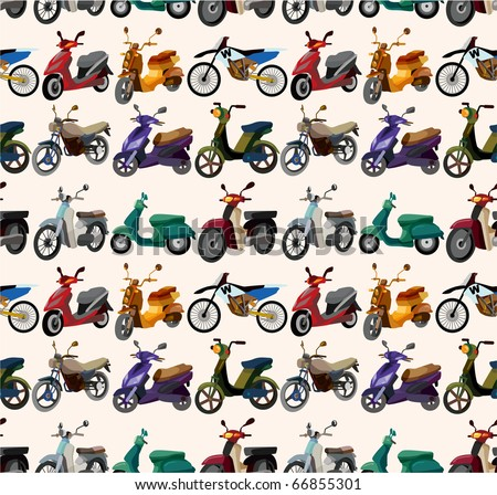 seamless motorcycles pattern - stock vector