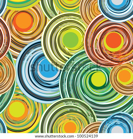 seamless multicolor abstract pattern - stock vector