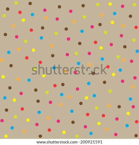 seamless multicolor dot pattern, vector background