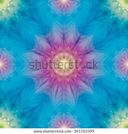 Seamless multicolor kaleidoscopic pattern eps10 - stock vector