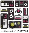 Seamless music pattern - stock vector